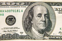 Tiro macro de cem dólares de conta Fotografia de Stock Royalty Free