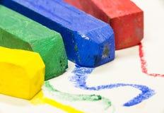 Tiro macro de cores pastel coloridas Imagem de Stock