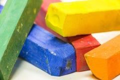 Tiro macro de cores pastel coloridas Imagens de Stock Royalty Free