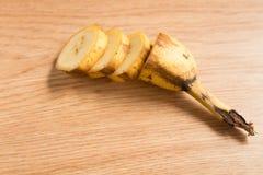 Tiro macro de fatias da banana Fotos de Stock