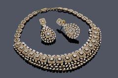 Tiro macro de la joyería del oro imagen de archivo libre de regalías