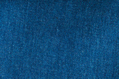 Tiro macro de la mezclilla del dril de algodón para la textura Imagenes de archivo