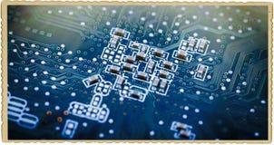 Tiro macro de la tarjeta de circuitos fotografía de archivo