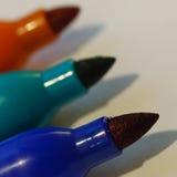 Tiro macro de marcadores Foto de archivo libre de regalías