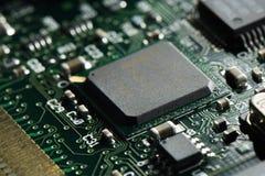 Tiro macro de um circuito integrado fotografia de stock royalty free
