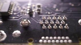 Tiro macro del carro de la placa de circuito del ordenador metrajes