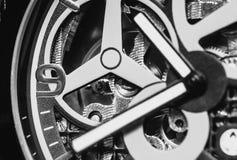 Tiro macro del mevement del reloj Imagenes de archivo