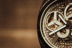 Tiro macro del mevement del reloj Foto de archivo