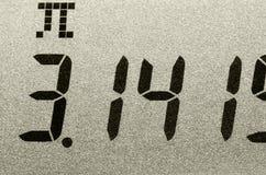 Tiro macro del número del pi Imágenes de archivo libres de regalías