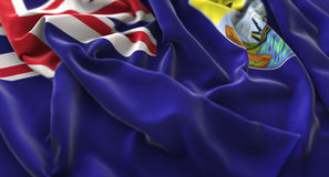 Tiro macro del primer de Helena Flag Ruffled Beautifully Waving del santo Fotografía de archivo libre de regalías