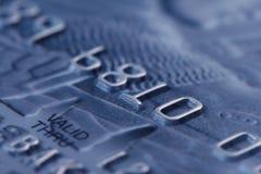 Tiro macro do cartão de crédito Imagem de Stock Royalty Free