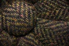 Tiro macro do chapéu textured verde Fotos de Stock Royalty Free