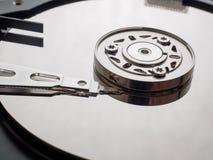 Tiro macro do mecanismo do disco rígido Fotos de Stock