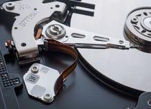 Tiro macro do mecanismo do disco rígido Foto de Stock Royalty Free