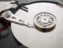 Tiro macro do mecanismo do disco rígido Fotografia de Stock Royalty Free