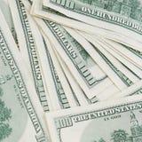 Tiro macro notas de 100 de un dinero de US$ Fotos de archivo