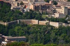 Tiro magnífico de la pared de Segovia Arquitectura, viaje, historia fotos de archivo