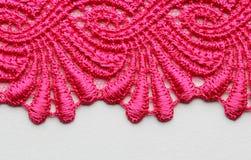 Tiro material de la macro de la textura del cordón magenta de la flor Imagen de archivo libre de regalías