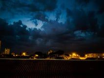 Tiro nublado de la noche Fotos de archivo libres de regalías