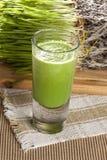 Tiro orgánico verde de la hierba del trigo Imágenes de archivo libres de regalías