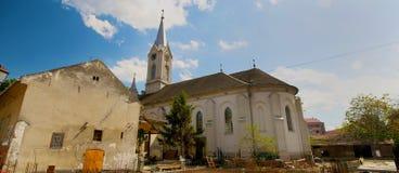 Tiro panorámico de la iglesia adventista Foto de archivo libre de regalías