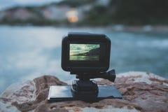 Tiro pequeno da câmera da ação imagem de stock royalty free