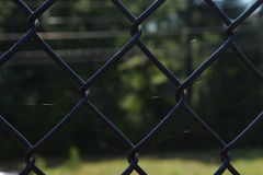 Tiro próximo da cerca preta Fotografia de Stock