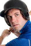 Tiro principal do jogador de beisebol Imagens de Stock