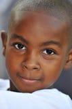Tiro principal do menino preto Imagem de Stock