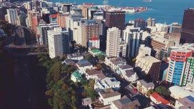 Tiro que revela de la ciudad de Wellington, antena 4k metrajes