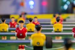 Tiro suave de la tabla sucia del fútbol con la luz fresca Foto de archivo libre de regalías