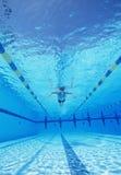 Tiro subacuático de la natación masculina del atleta en piscina Fotos de archivo libres de regalías