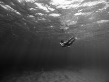 Tiro subaquático da menina foto de stock royalty free