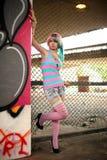 Tiro urbano di modo di Skatepark dei graffiti Fotografia Stock