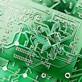 Tiro verde do close-up do PWB Imagem de Stock