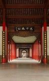 Tiro vertical - palácio presidencial de China Nanjing, corredor espaçoso Imagens de Stock