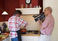 Tiro video que cozinha a mostra   Imagens de Stock Royalty Free