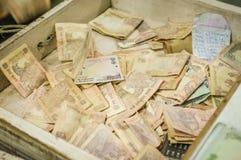 Tiroir avec de l'argent Image stock