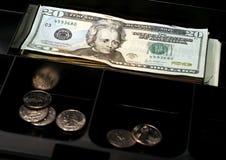 Tiroir d'argent comptant photographie stock