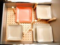 Tiroir pour des plats Image libre de droits
