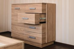tiroirs de coffre modernes Photo stock