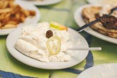 Tirokafteri - extensión de queso de Grecia Foto de archivo libre de regalías