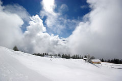Tirol mountain panorama during sunny day Royalty Free Stock Photos