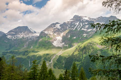 Tirol Nature. Summer mountain before the rain Royalty Free Stock Image