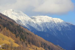 Snowy peaks of Tirol, Austria stock photos