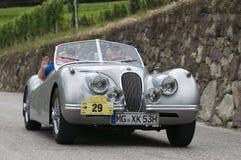 Tirol sul cars_2014_Jaguar clássico XK 120 Roadster_3 Imagem de Stock