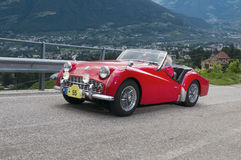 Tirol sul cars_2014_Triumph clássico TR 3A Imagens de Stock Royalty Free