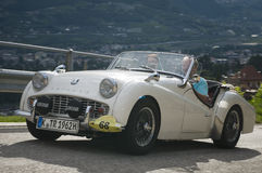 Tirol sul cars_2014_Triumph clássico TR 3 B Fotos de Stock