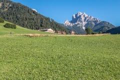 Tirol sul em cumes italianos fotografia de stock