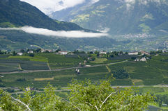 Tirol village with clouds Stock Image